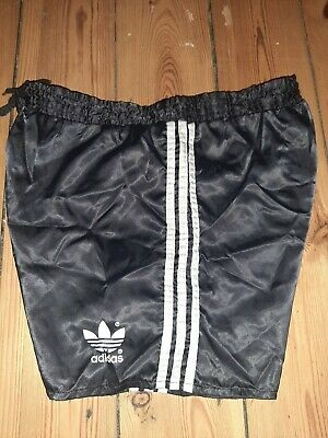 "Mens Vintage Adidas Glanz Sprinter Shorts 30"" In Black"