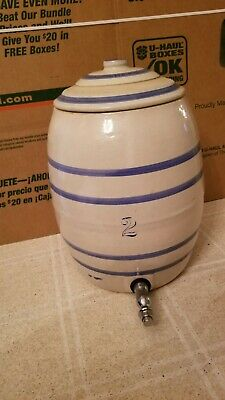 Antique Stoneware 2 Gallon Decanter With Lid