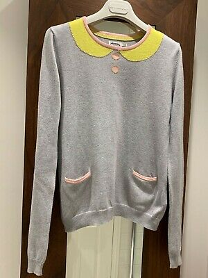 Girls Mini Boden Jumper Age 13/14 Yrs.100% Cotton Grey Sparkly Rrp£40. Christmas