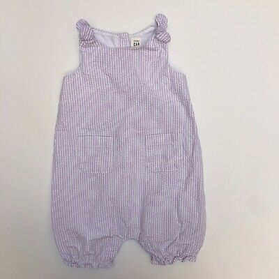 NWT Baby Gap Girls Size 3-6 or 6-12 Month Blue Striped Watermelon Pocket Romper