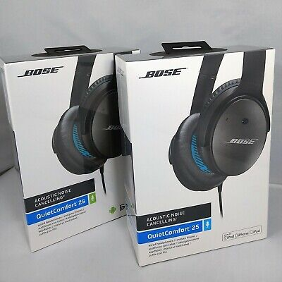 Bose QuietComfort QC 25 Noise Cancelling Headphones In-Line Android iPhone Apple