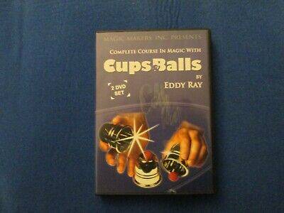 eddy ray complete course in magic w/ cups & balls 2 dvd u.s. seller
