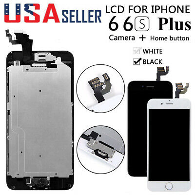 For iPhone 6 Plus 6S LCD Touch Screen Full Replacement Home Button&Camera 6SPlus