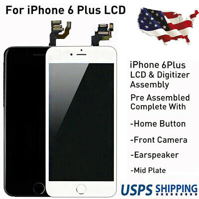 """5.5"""" For iPhone 6 Plus OEM LCD Screen Digitizer Replacement Assembly Home Button"""