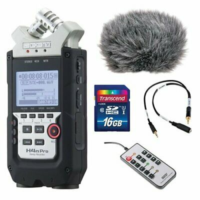 Zoom H4n Pro 4-Channel Handy Recorder Bundle with Windbuster, Attenuator Cable