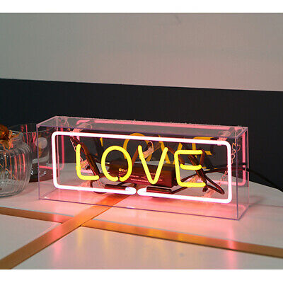 Acrylic Box Neon Sign Atmosphere Light Message Board Decorative Lamp Bar Hanging