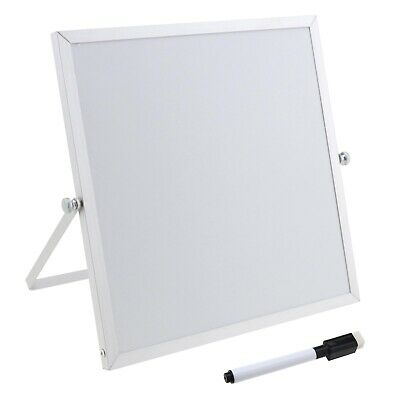 Double Sided Desktop Whiteboard with Stand Magnetic Whiteboard Set 25x25cm