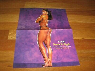 bodybuilder SHARON BRUNEAU/LOU FERRIGNO  Bodybuilding Poster Color 2 Fold Poster
