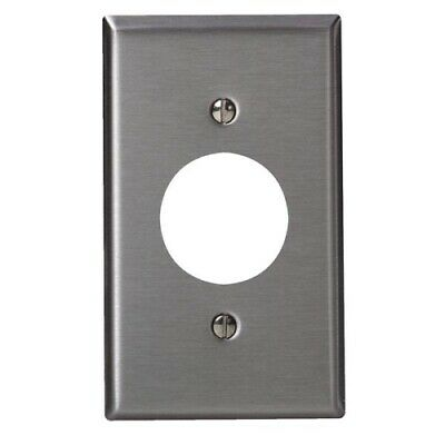 Leviton Single Outlet Stainless Steel Wall Plate