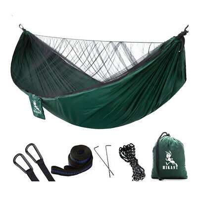 Camping Hammock with Mosquito Net Lightweight Portable Parachute for outdoor