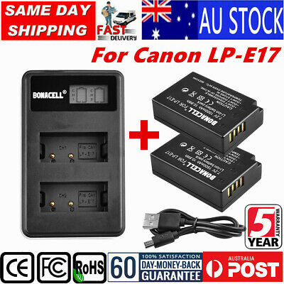 LP-E17 Replace Battery/ LCD Charger For Canon EOS 200D M3 M6 750D 800D Rebel T6i