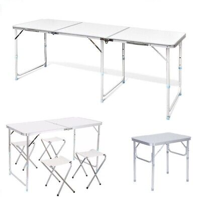 2/4/6FT Heavy Duty Folding Table Portable Camping Catering Garden Party Trestle