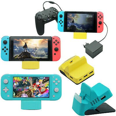 Charging Dock Station Base w/USB HUB for Nintendo Switch / Switch Lite Console P