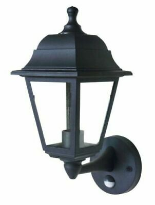 Coach 4 Panel Lantern Outdoor Garden Security Wall Light Lamp PIR with LED Lamp