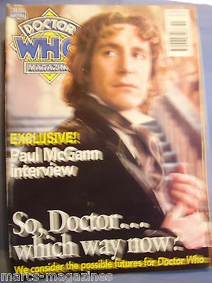 Doctor Who Magazine December 1996 # 246 Paul Mcgann Interview Endgame