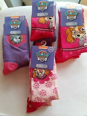 Wholesale Joblot Girls Paw Patrol Socks - x 17 Pairs - All Tagged