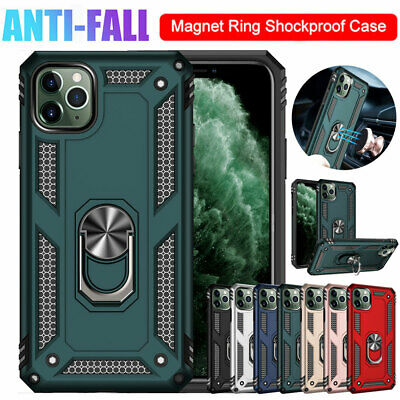 For iPhone 11 Pro XS Max X XR 7 8 Shockproof Armor Case Hybrid Ring Holder Cover