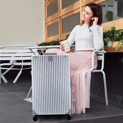 ABS Luggage Set Light Travel Case Hardshell Suitcase 24'' Silver 1PC