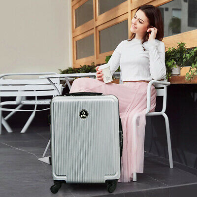 28'' Luggage Travel Bag ABS Trolley 360° Spinner Carry On Suitcase with Lock 1PC