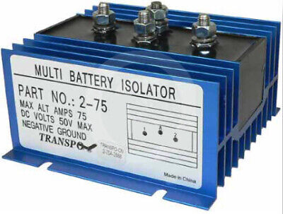 Dual Multi 2 Battery 1 Alternator 75 Amp Max Isolator - Ems Marine Rv 2Yr Wrnty