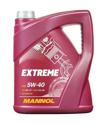 Mannol Fully Synthetic Engine Oil 5w40 SN/CF A3/B4 Diesel Petrol EXTREME 540