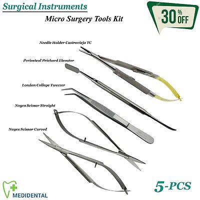 SURGICAL Micro-Surgery Needle Holder / Driver Instruments Kit Dentistry Tools CE