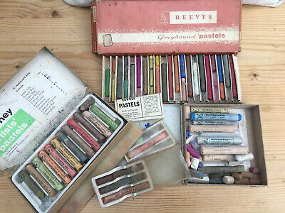 Vintage Talens Rembrandt, Rowney and Mixed Other Original Pastels, a few Oil