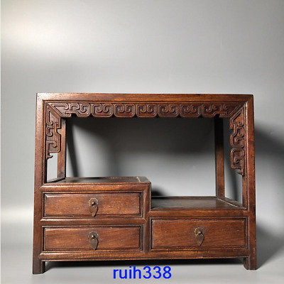 """16"""" Collection Asia China old antique Rosewood Bo Gu shelf"""