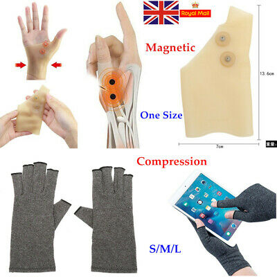 Compression Fingerless Magnetic Gloves Anti Arthritis Brace Support Pain Relief