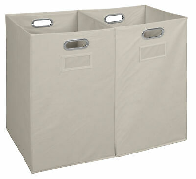 Niche Foldable Fabric Laundry Bin- Natural (Set of 2)
