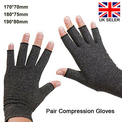 Compression Gloves Fit Arthritis Carpal Tunnel Hand Finger Support Pain Relief
