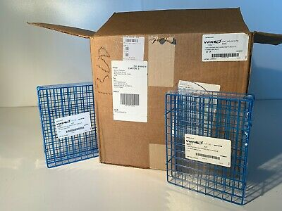 Case of 24 VWR 60916-786 Poxygrid Blue Wire Test Tube Racks for 15-16mm, NOS