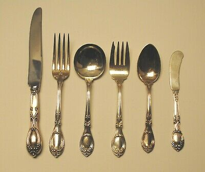 Antique Victoria aka Florence by F. Whiting Sterling Silver 6 Piece  Setting
