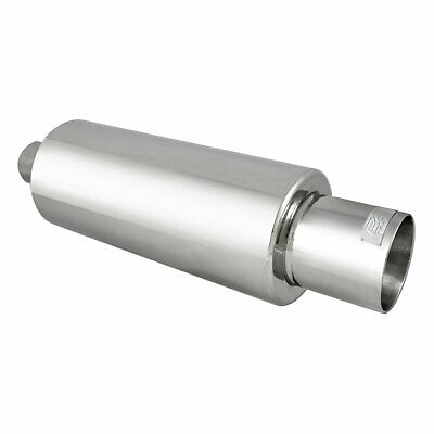 DC Sports DCM2500 2.5 Polished Stainless Steel Round Straight Cut Universal Exhaust Tip