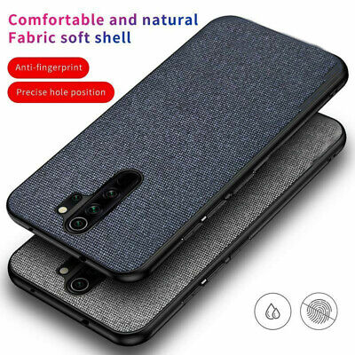 For Xiaomi Redmi Note 8 Pro Mi 9  Hybrid Cloth Fabric+ Soft TPU Case Cover