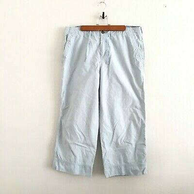 Horny Toad Powder Blue Capris Wide Leg Cropped Pants Women's Size 12
