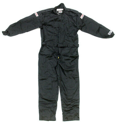 G-FORCE Black X-Large GF125 1 Piece Driving Suit P/N 4125XLGBK