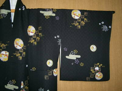 Used Hello Kitty Kitty-Chan Komon Kurochi Masakin Girls' Party *Cgr3992