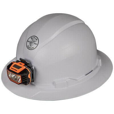 Klein Tools 60406 Hard Hat, Non-Vented, Full Brim Style with Headlamp