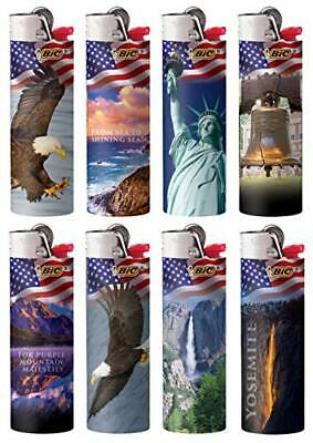 Bic Americana Series Lighters Special Edition Set of 8