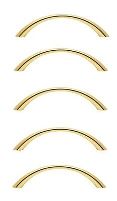 5pcs 96mm Brass plated solid metal Bow Handles cupboard drawer pulls with screws