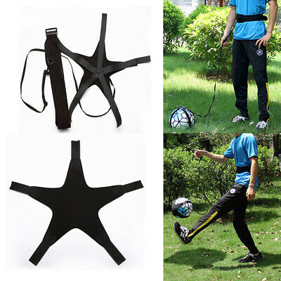Football Practice Aid Self Training Kick Trainer Aid Equipment Waist Belt UK