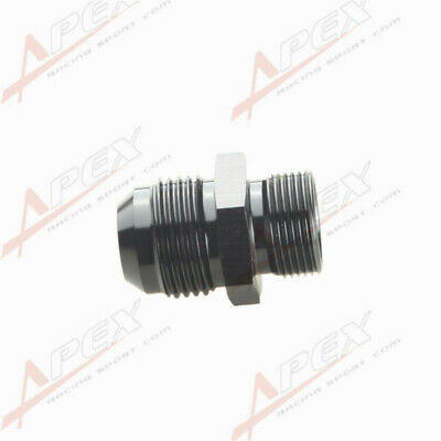 -4AN 6AN 8AN 10AN 12AN Male Flare To Metric Straight Fitting Adapter Black