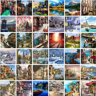 Scenery DIY Paint By Number Kit Digital Acrylic Oil Painting Art Wall Home Decor