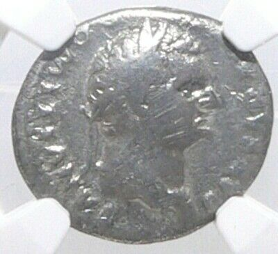 NGC AUTHENTICATED Roman Emperor Domitian AD 81-96 Silver Denarius Twelve Caesars