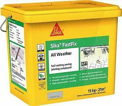 Sika Fast Fix All Weather | Self Setting Jointing Compound | 14kg GREY FastFix