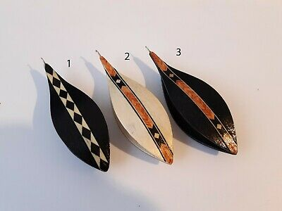 Wooden Hand Made Tatting Shuttle With Built-in Hook & Marquetry