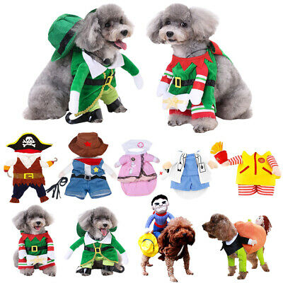 Funny Pets Dog Cat Cosplay Christmas Halloween Party Fancy Dress Outfit Clothes