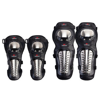 Motorbike Knee Pads Elbow Guards Shin Pads Protector Leg Arm Shield Set