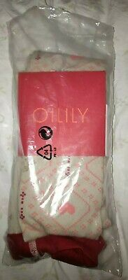 Oilily Girls Beige Patterned Tights Size 11-12 Years Años Ans Jahre EUR 152